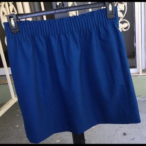 Jcrew blue skirt  with 2 pockets size 8 used